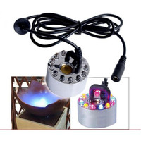 1 Disc Ultrasonic Fogger / Mister w/ 12 Multi-color LED lights DH-24B(RBG)