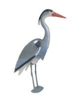 Blue Heron Decoy w/ Legs- decorative predator deterrent