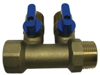 EasyPro 2 Way Brass Air Splitter SS10