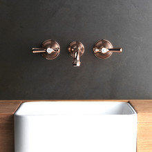 Cascade Wall Tap - Lever handle with Wall Outlet - Rose Gold Finish