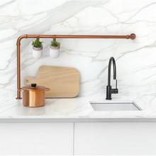 Vivid Slimline Side Lever Sink Mixer (Gooseneck) - ONIX Matte Black