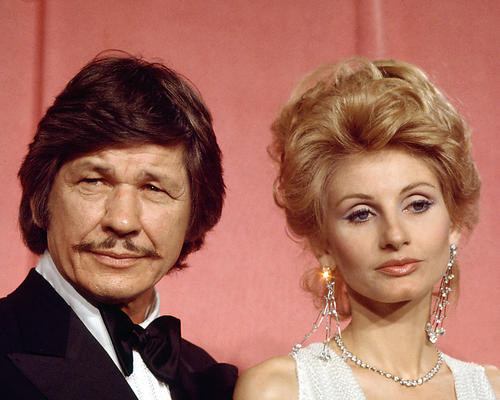 This is an image of 274307 Charles Bronson & Jill Ireland Photograph & Poster
