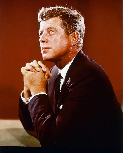 This is an image of 221141 John F.Kennedy Photograph & Poster