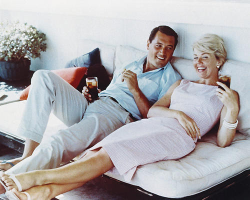 This is an image of 230545 Rock Hudson & Doris Day Photograph & Poster