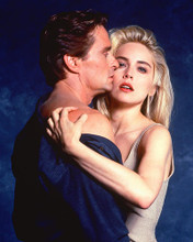 This is an image of 256289 Sharon Stone & Michael Douglas Photograph & Poster