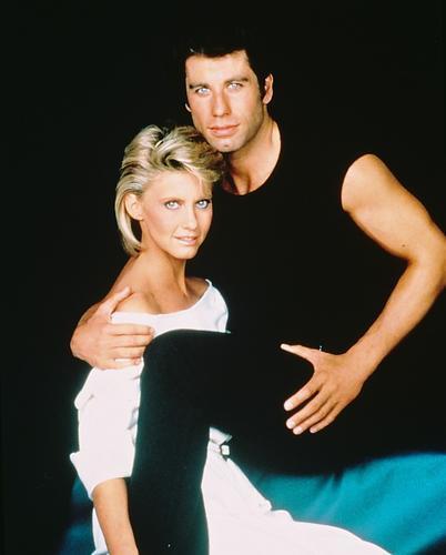 This is an image of 220143 Olivia Newton-John & John Travolta Photograph & Poster