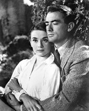 This is an image of 171245 Audrey Hepburn & Gregory Peck Photograph & Poster