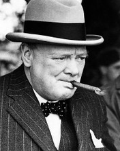 This is an image of Photograph & Poster of Winston Churchill 195510