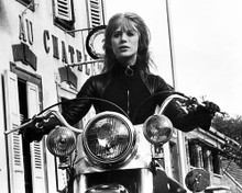 This is an image of Photograph & Poster of Girl on a Motorcycle 199775