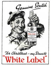 This is an image of Vintage Reproduction of Dewars 297323