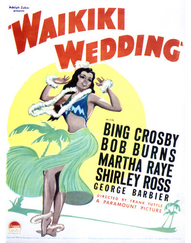 This is an image of Vintage Reproduction of Waikiki Wedding 296428