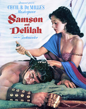 This is an image of Vintage Reproduction of Samson and Delilah 297001