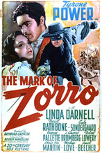 This is an image of Vintage Reproduction of The Mark of Zorro 297066