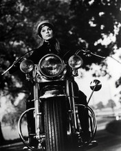 This is an image of Photograph & Poster of Girl on a Motorcycle 197581