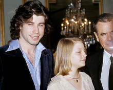 This is an image of 282825 Jodie Foster and John Travolta Photograph & Poster