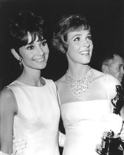 This is an image of 191762 Audrey Hepburn and Julie Andrews Photograph & Poster