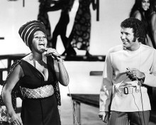 This is an image of 192287 Aretha Franklin and Tom Jones Photograph & Poster