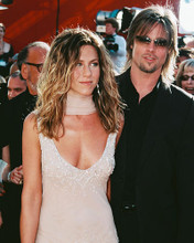 This is an image of 253639 Brad Pitt & Jennifer Aniston Photograph & Poster