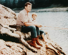This is an image of 221621 Andy Griffith & Ron Howard Photograph & Poster