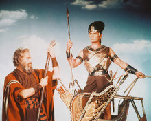 This is an image of 248185 Charlton Heston & Yul Brynner Photograph & Poster