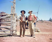 This is an image of 255150 John Wayne and Stuart Whitman Photograph & Poster