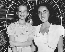 This is an image of 173536 Natalie Wood and Elizabeth Taylor Photograph & Poster