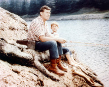 This is an image of 271572 Andy Griffith & Ron Howard Photograph & Poster