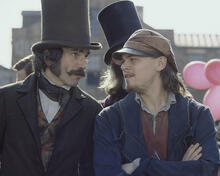 This is an image of 254008 Leonardo Di Caprio & Daniel Day Lewis Photograph & Poster