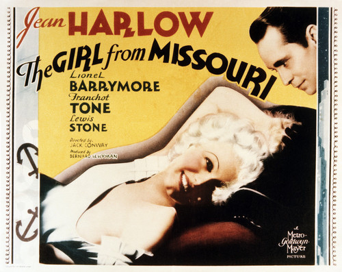 This is an image of Vintage Reproduction Lobby Card of The Girl from Missouri 295239