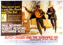 This is an image of Vintage Reproduction Lobby Card of Butch Cassidy and the Sundance Kid 295845