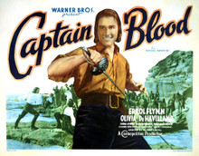 This is an image of Vintage Reproduction Lobby Card of Captain Blood 295851