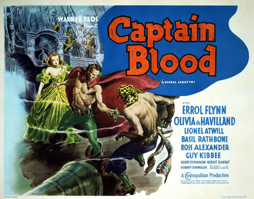 This is an image of Vintage Reproduction Lobby Card of Captain Blood 295852