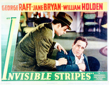 This is an image of Vintage Reproduction Lobby Card of Invisible Stripes 296218
