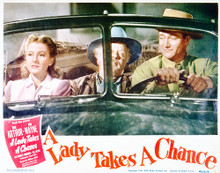 This is an image of Vintage Reproduction Lobby Card of A Lady Takes a Chance 296219