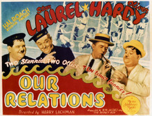 This is an image of Vintage Reproduction Lobby Card of Our Relations 296372