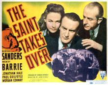 This is an image of Vintage Reproduction Lobby Card of The Saint Takes over 296386