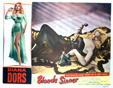 This is an image of Vintage Reproduction Lobby Card of Blonde Sinner 296402
