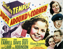 This is an image of Vintage Reproduction Lobby Card of Just Around the Corner 296417