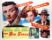 This is an image of Vintage Reproduction Lobby Card of The Big Steal 296444