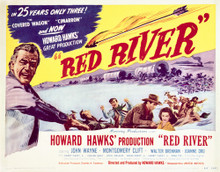 This is an image of Vintage Reproduction Lobby Card of Red River 296493