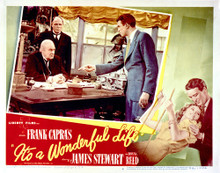 This is an image of Vintage Reproduction Lobby Card of It's a Wonderful Life 296528