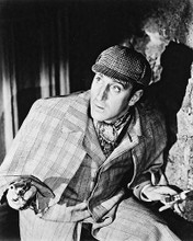 This is an image of 12612 Basil Rathbone Photograph & Poster
