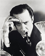 This is an image of 14175 Basil Rathbone Photograph & Poster