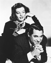 This is an image of 160222 Cary Grant & Katharine Hepburn Photograph & Poster