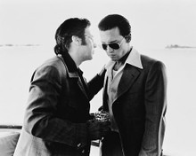This is an image of 165347 Al Pacino & Johnny Depp Photograph & Poster