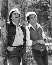 This is an image of 193556 Johnny Cash and Larry Gatlin Photograph & Poster