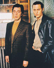 This is an image of 224971 Al Pacino & Johnny Depp Photograph & Poster