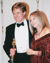 This is an image of 252546 Robert Redford & Barbara Streisand Photograph & Poster