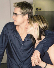 This is an image of 249013 Brad Pitt & Jennifer Aniston Photograph & Poster