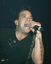 This is an image of 255594 Robbie Williams Photograph & Poster